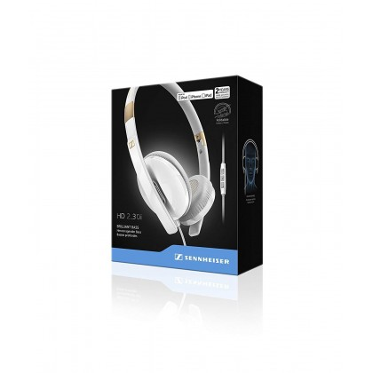 Sennheiser HD 2.30i Stylish Portable On-Ear Headset with Integrated Mic & Remote for iOS Devices (White)
