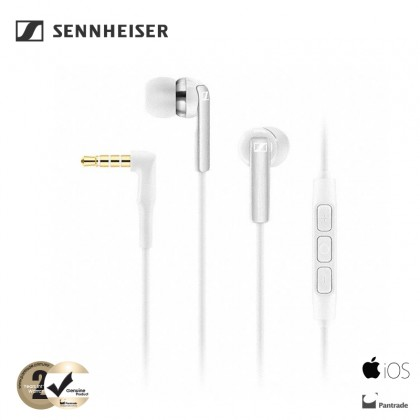 Sennheiser CX 2.00i In-Ear Headphones with Integrated Mic & Remote for iOS Devices (White)
