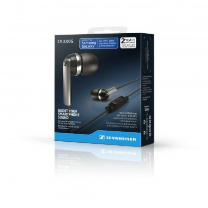 Sennheiser CX 2.00G In-Ear Headphones with Integrated Mic & Remote for Android Devices (White)
