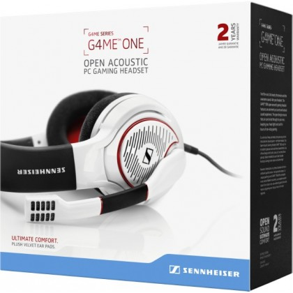 Sennheiser GAME ONE Open-Back Gaming Headset for PC, Mac, PS4 and Xbox One (White)