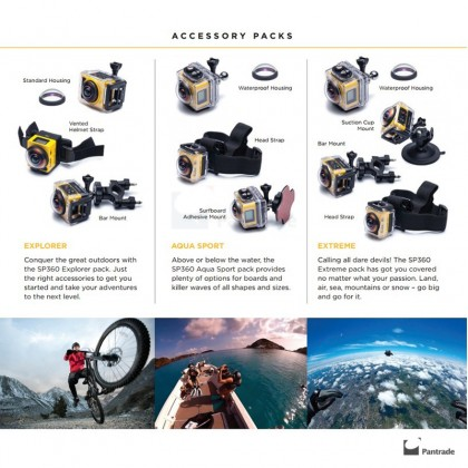 Kodak Action Camera - PixPro SP360 Extreme Pack - WiFi Full HD Wide