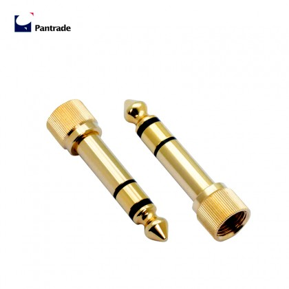"6.3mm 1/4"" Male Plug to 3.5mm 1/8"" Female Jack Stereo Headphone Audio Adapter Microphone Home Connectors screw type"