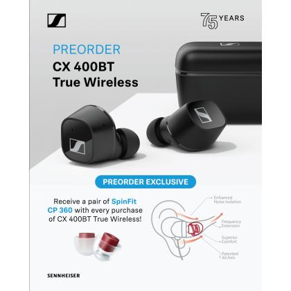 PRE - ORDER Sennheiser CX 400BT True Wireless ( Black / White )